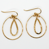 Women's Cute Double Teardrop Hoop Earrings in Gold