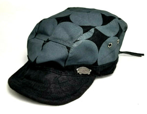 VANS Off The Wall Military Style Army Cap - Black & Gray Camo - Adj Wire Brim