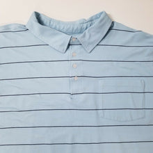 KING SIZE Mens Stretchy Short Sleeve Polo Shirt - Lt Blue - 5XL- HARD TO FIND!