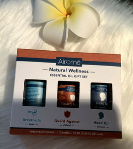 Airome Essential Oil 3-Piece Gift Set - .34 Fl Oz EACH Bottle - NEW in Box