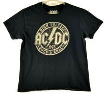 "AC/DC Mens T-shirt ""HIGH VOLTAGE ROCK & ROLL"" - Black w/Beige imprint - L - NWOT"