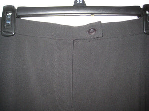 Stonebridge Womens/Girls Stretch Pants Black - Polyester Rayon Spandex-12P Short