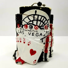 Sculpted Las Vegas Pillar Candle - 3 lbs. Pre- Owned Never Used. Collectible!