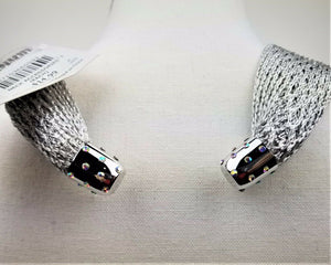 GiftCraft Neck Accessory (Soft Silver Cloth) w/Magnetic Bling Closure - New!