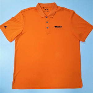 "Adidas Performance Golf/Polo Short Sleeve Shirt ""MESQUITE AMATEUR"" - Orange - XL"