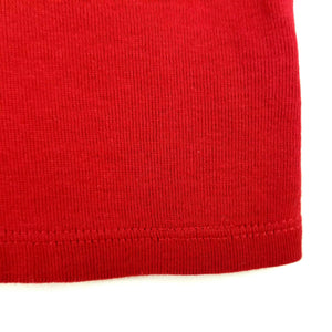 Rafaella Womens Short Sleeve Knit Top - Red - XL - Beaded Collar - NWT