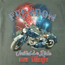 celebrate! PATRIOTIC Motorcycle FREEDOM T-Shirt w/imprint - Dark Gray - M