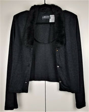 SAG HARBOR 2-pc set Long Black Sheath Dress & Short Jacket (both sheer material)