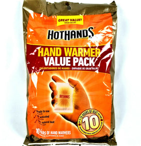 Hot Hands HotHands HAND WARMERS Value Pack 10 Pairs in Pkg - EXP Aug 2023 - NEW