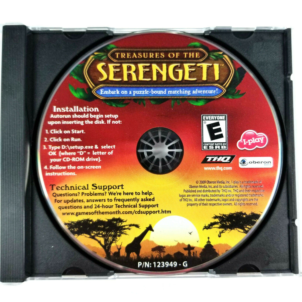 Treasures Of The SERENGETI (Oberon I-play PC CD-Rom Video Game 2009) Rated E