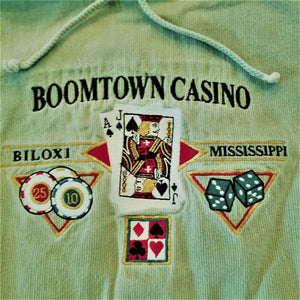 "Boomtown Casino Lightweight ""Poker"" Hoody w/Drawstrings - Olive Green XL"