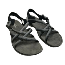 Merrell Womens District Muri Lattice J000118 Black Charcoal Strappy Sandals Sz 7