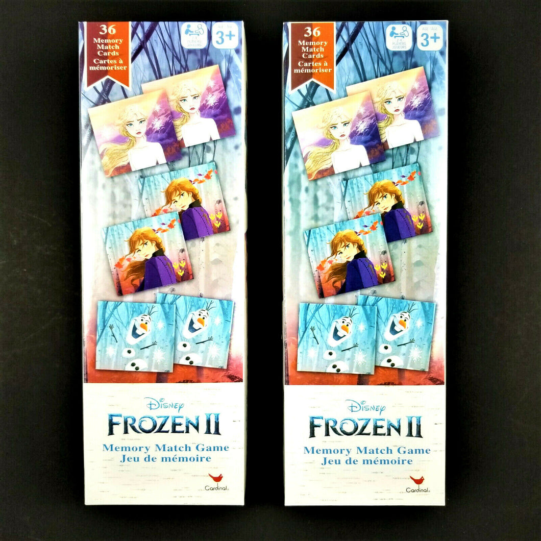 2X Disney FROZEN II Memory Match Game 36 Memory Match Cards 2-4 Players Age 3+