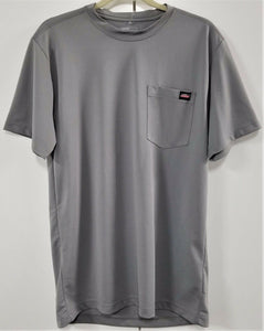 Genuine Dickies Polyester T-shirt w/ Pocket - Polyester - Gray - M