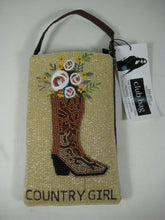 Bamboo Co Cell Phone or Club Bag, Beaded Country Girl Cowboy! Wrist Or Shoulder