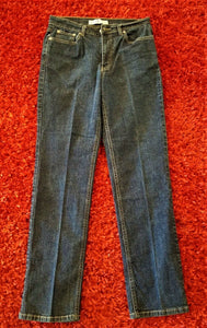 Tommy Hilfiger Womens Stretch Hipster Straight Leg Blue Jeans - Size 6