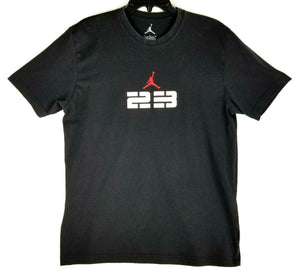 Jordan Jumpman 23 Dri-Fit Mens T-Shirt  - L - Black - Logo Front & Back