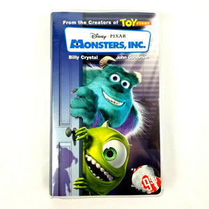 Monsters, Inc. (Disney VHS 2002 Clam Shell) Voices Billy Crystal & John Goodman