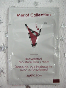 Merlot Collection Vine-Vera Resveratrol Moisture Day Skin Cream - .10 Oz Foil Pk