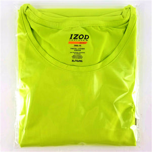Womens IZOD Perform Basix COOL-FX Athleisure SS T-Shirt - Stretchy - LIME - XL