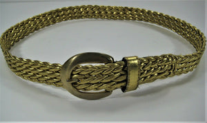 "Gold Weave Belt - Fits up to 32"" Used But Still Very Pretty."