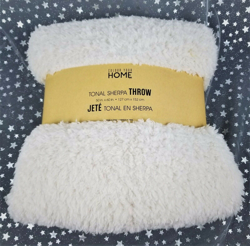 Safdie Tonal Sherpa Throw Colour Your Home 50