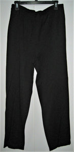 Karin Stevens Womens/Girls Pleated Pants Black - Rayon Polyester - Sz 10