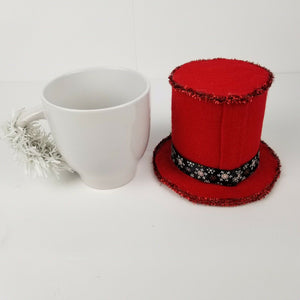 Royal Norfolk Christmas Tophat Snowman Coffee Mug / Table Centerpiece - White