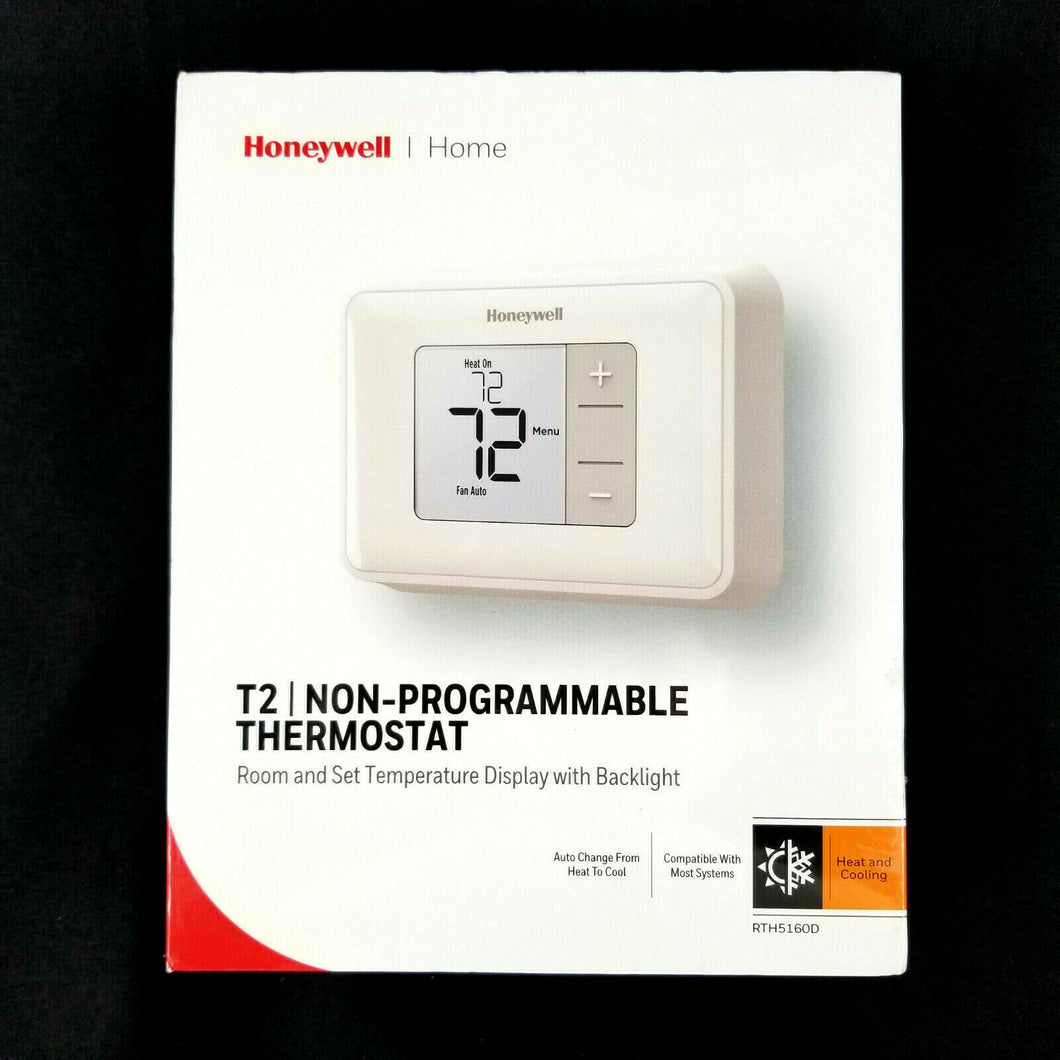 Honeywell T2 NON-PROGRAMMABLE THERMOSTAT Room & Set Temp w/ Backlight RTH5160D