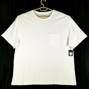No Boundaries Mens Thermal SS Tee Shirt w/Pocket -White - 2XL 50-52 - NEW w/ Tag