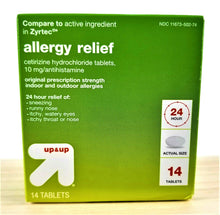 2 BOXES 24 Hour Allergy Relief Tablets -Target Up & Up Brand -OTC Cetirizine HCl