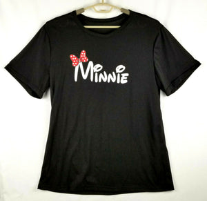"""Minnie"" Stretchy Smooth T-shirt - Black - XL - Lightweight & Sheer - Excellent!"