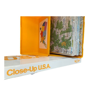 National Geographic Vtg Close Up USA Maps Book Distance Scale Template Travel