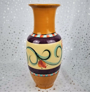 "Beau Rivage Casino Unique 13"" Vase Hand Painted by Renowned Artist Gail Pittman"