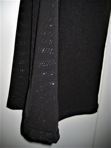 Wild Cat Womens/Girls Stretch Pants w/Sheer Sparkling Sides - Black Polyester-M