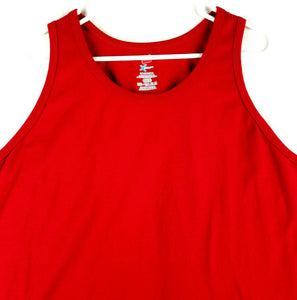 Hanes X-TEMP Mens Tank Top - Red - 2XL - Cotton Polyester - Tagless Collar