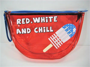 "No Boundaries ""Red White & Chill"" Clear Pouch"