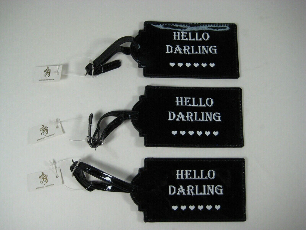 HELLO  DARLING Luggage Tags -Set Of 3