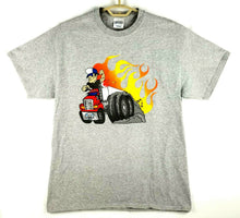 "Mens T-shirt Truckers ""Rolling Strong"" - C Port & Co - Gray - L - Excellent!"