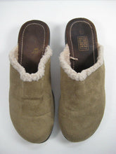 Faded Glory Womens/Girls Suede Leather Slip-On  Fur-Trim Shoes Sz 6.5- Pre-Owned