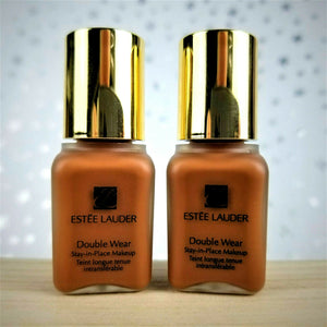 2x ESTEE LAUDER Double Wear Stay-In-Place Makeup 7W1 Deep Spice 0.24 oz EACH