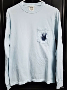 "Long Sleeve T-shirt ""TENNESSEE STRONG Brandleton & Charm"" - Light Blue - S"