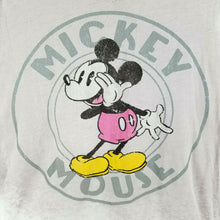 Disney Mickey Mouse Womens T-Shirt Distressed Original Retro Thin - XL - Gray
