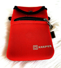 KEEPER Phone Case - Soft & Stretchy - RED - Zipper Pocket - NWOT