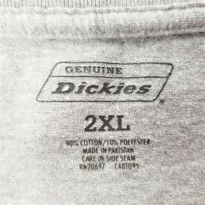 Genuine Dickies Mens T-Shirt - Short Sleeve w/Pocket - Gray - 2XL - EXCELLENT!