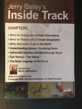 DVD ~ JERRY BAILEY'S INSIDE TRACK ~ HORSE RACING & HANDICAPPING
