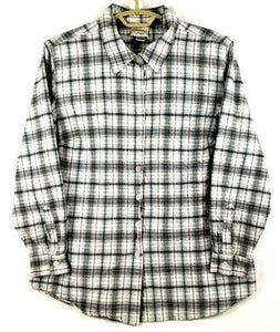 ESSENTIALS by Maggie Womens Fitted Shirt L/S Button-Up - 18/20 W - Gray Plaid