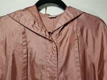 Alorna Petite Womens Hooded Raincoat - Coral - Sz 5/6