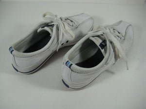KEDS Womens/Girls Leather Casual Sneakers White Sz 6.5 Barely Used- -photos