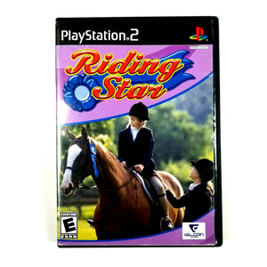 SONY PS2 PlayStation 2 RIDING STAR Equestrian Video Game (2008) -Includes Manual